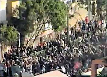 Egypt: protestors battle with Mubarak supporting state thugs for possession of the streets while the army watches