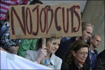UCU  members on strike at London Met university in 2009 , photo Paul Mattsson