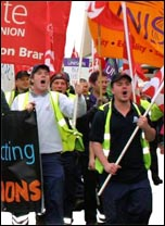 Southampton workers protest