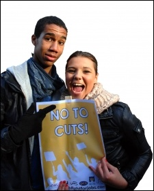 No to cuts! Youth Fight for Jobs demonstration, photo Suzanne Beishon