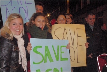 Parents and young people marched on Camden council on 28 February., photo H. Pierre