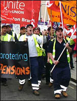 Trade union demo in Southampton, photo by David Smith