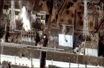 Fukushima I courtesy of Digital Globe, photo Digital Globe