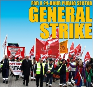 For a 24-hour public sector general strike, photo by David Smith