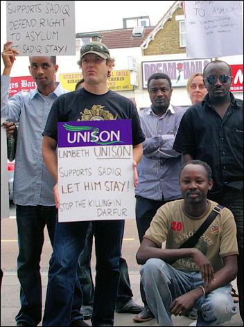 Save Sadiq: Lobby demands asylum for Sadiq, photo Jack Royston