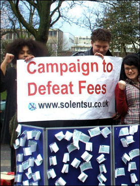 Students protest against fees