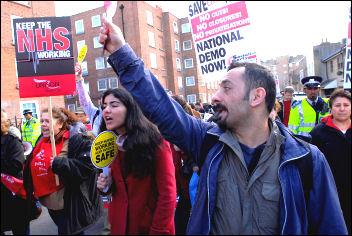 NHS demonstrations 3 March 2007., photo Paul Mattsson