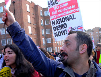 NHS demonstrations 3 March 2007, photo Paul Mattsson