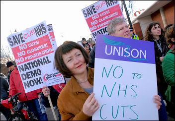 NHS demonstrations 3 March 2007, photo Paul Mattsson