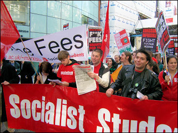 Students demonstrating in 2006, photo Dave Carr