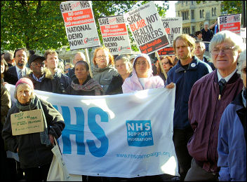 The PUSH NHS demonstration in 2006 called for a national demonstration, photo Sarah Sachs-Eldridge