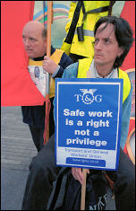 Workers protest at lack of safety on building sites