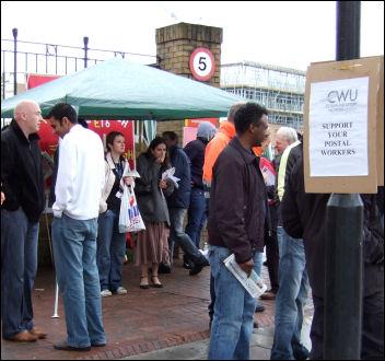Postal workers on strike in 2007