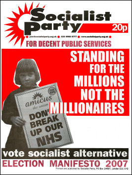 Socialist Party 2007 election manifesto