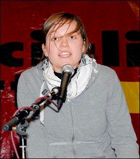 Socialism 2007 - Anne Engelhardt SAV Germany, photo Paul Mattsson