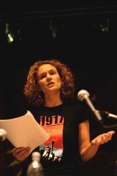 Socialism 2007 - Hannah Sell, Socialist Party deputy general secretary, photo Paul Mattsson