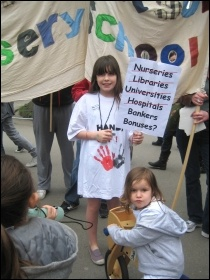 Save Sure Start services - Westminster campaign, photo Save our Childrens Services