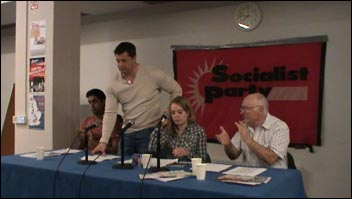 Prison Officers Association (POA) assistant secretary, Joe Simpson. speaking at a London Socialist Party meeting