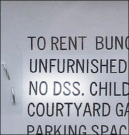 No DSS - Landlords discriminate against those on housing benefit
