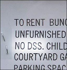 No DSS - Landlords discriminate against those on housing benefit