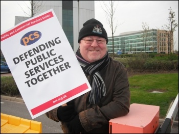 A PCS picket, photo Elaine Brunskill
