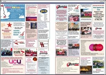 May Day Greetings, The Socialist, May 2011