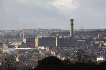 Manningham Mills viewed across Bradford
