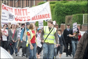 Exeter Anti Cuts March and Rally 2 May 2011, photo Nick Hall
