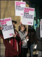 UCU pickets at Bradford University, photo Iain Dalton