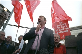Unite leader Len McCluskey, photo The Socialist