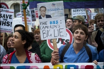 March to save the NHS, 17 May 2011, photo Paul Mattsson