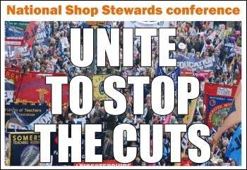 National Shop Stewards conference: Unite to stop the cuts, photo The Socialist