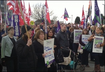 Southampton council workers lobby their council, photo Nick Chaffey