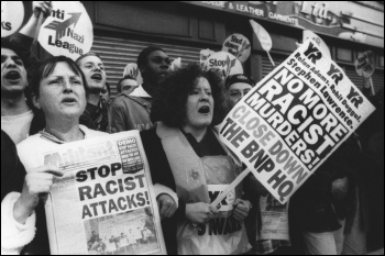 Youth against Racism in Europe protest against the BNP in 1993, photo by The Socialist