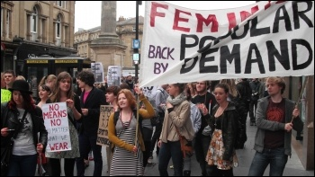 Slutwalk protests in Newcastle, photo E. Brunskill