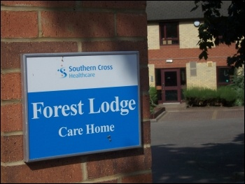 Southern Cross Healthcare's private residential home care in crisis, photo B Severn