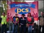 HMRC PCS members' strike, Sherbourne House, Coventry 8.6.11, photo Coventry SP