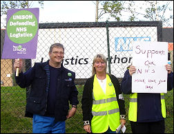 NHS Logistics workers strike