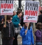 For a 24 hour public sector gehneral strike now! , photo Suzanne Beishon