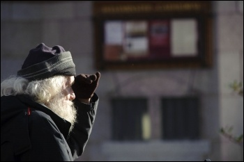 Housing: homeless person, photo Paul Mattsson