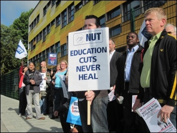 Forest Hill school strike, Lewisham, June 2011, photo Martin Powell Davies