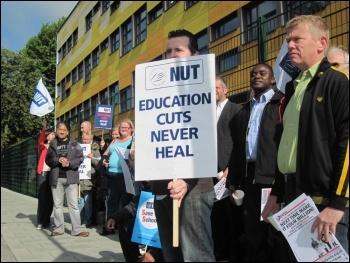 Forest Hill school strike, Lewisham, June 2011, photo Martin Powell Davies