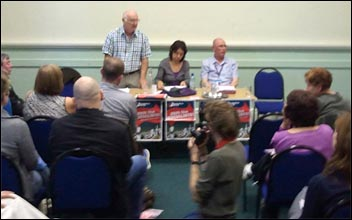 Socialist Party fringe meeting at June 2011 Unison conference, photo Greg Maughan