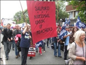 Salford NUT. photo Hugh Caffrey