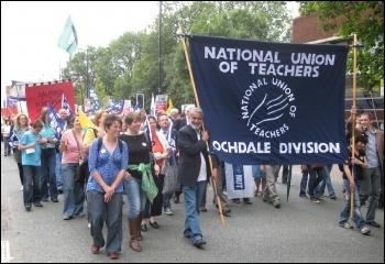 NUT on the march. photo Hugh Caffrey