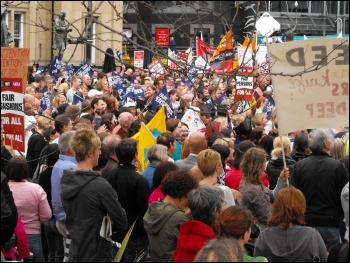 The massive demo in Leeds. photo Leeds Socialist Party