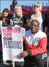30 June pensions strike: London demo, photo Senan