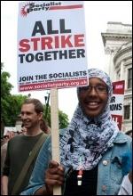 Demo in London on 30 June strike day, photo Paul Mattsson