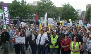 Swansea rally. photo Wales Socialist Party