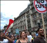June 30 strike: demonstration in London, photo by Paul Mattsson